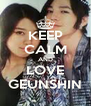 KEEP CALM AND LOVE GEUNSHIN - Personalised Poster A4 size