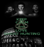 KEEP CALM AND LOVE  GHOST HUNTING - Personalised Poster A4 size