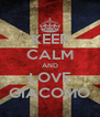 KEEP CALM AND LOVE GIACOMO - Personalised Poster A4 size