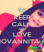 KEEP CALM AND LOVE GIOVANNITA <3 - Personalised Poster A4 size