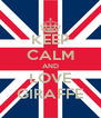 KEEP CALM AND LOVE GIRAFFE - Personalised Poster A4 size