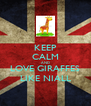 KEEP CALM AND LOVE GIRAFFES LIKE NIALL - Personalised Poster A4 size