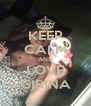 KEEP CALM AND LOVE GIRINA - Personalised Poster A4 size