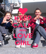 KEEP CALM AND LOVE GİRL - Personalised Poster A4 size
