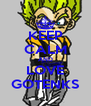 KEEP CALM AND LOVE GOTENKS - Personalised Poster A4 size