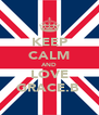 KEEP CALM AND LOVE GRACE.B  - Personalised Poster A4 size