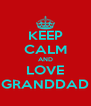 KEEP CALM AND LOVE GRANDDAD - Personalised Poster A4 size