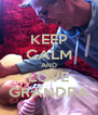 KEEP CALM AND LOVE GRANDPA - Personalised Poster A4 size