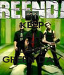 KEEP CALM AND LOVE GREEN DAY - Personalised Poster A4 size