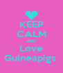 KEEP CALM AND Love Guineapigs  - Personalised Poster A4 size