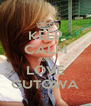 KEEP CALM AND LOVE GUTOWA - Personalised Poster A4 size