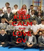 KEEP CALM AND LOVE GV - Personalised Poster A4 size