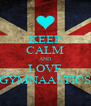 KEEP CALM AND LOVE GYMNAASTICS - Personalised Poster A4 size