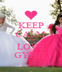 KEEP CALM AND LOVE GYPSY - Personalised Poster A4 size