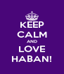KEEP CALM AND LOVE HABAN! - Personalised Poster A4 size