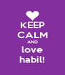 KEEP CALM AND love habil! - Personalised Poster A4 size