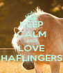KEEP CALM AND LOVE HAFLINGERS - Personalised Poster A4 size