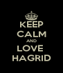 KEEP CALM AND LOVE  HAGRID - Personalised Poster A4 size
