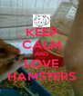 KEEP CALM AND LOVE HAMSTERS - Personalised Poster A4 size