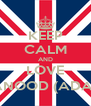 KEEP CALM AND LOVE HANOOD (ADAM) - Personalised Poster A4 size