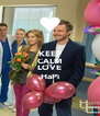 KEEP CALM AND LOVE HaPi - Personalised Poster A4 size