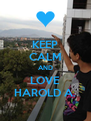 KEEP CALM AND LOVE HAROLD A. - Personalised Poster A4 size