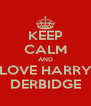 KEEP CALM AND LOVE HARRY DERBIDGE - Personalised Poster A4 size