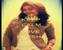 KEEP CALM AND LOVE  HARSHA - Personalised Poster A4 size