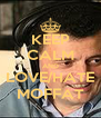 KEEP CALM AND LOVE/HATE MOFFAT - Personalised Poster A4 size