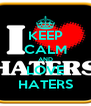 KEEP CALM AND LOVE HATERS - Personalised Poster A4 size