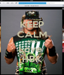 KEEP CALM AND Love  HBK - Personalised Poster A4 size
