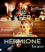 KEEP CALM AND LOVE HERMIONE - Personalised Poster A4 size
