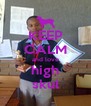 KEEP CALM and love high skul - Personalised Poster A4 size