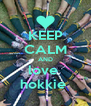 KEEP CALM AND love  hokkie  - Personalised Poster A4 size