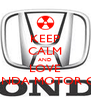 KEEP CALM AND LOVE HONDA MOTOR CO. - Personalised Poster A4 size