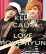 KEEP CALM AND LOVE HONG HYUN - Personalised Poster A4 size