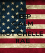 KEEP CALM AND LOVE HOT CHELLE  RAE - Personalised Poster A4 size
