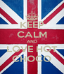 KEEP CALM AND LOVE HOT CHOCO - Personalised Poster A4 size