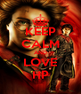 KEEP CALM AND LOVE HP - Personalised Poster A4 size