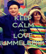 KEEP CALM AND LOVE HUMMELBERRY - Personalised Poster A4 size