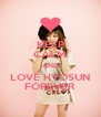 KEEP CALM AND LOVE HYOSUN FOREVER - Personalised Poster A4 size