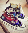 KEEP CALM AND love ianushka  - Personalised Poster A4 size