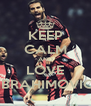 KEEP CALM AND LOVE IBRAHIMOVIC - Personalised Poster A4 size