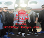 KEEP CALM AND Love  ICONic Boyz <3  - Personalised Poster A4 size