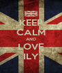 KEEP CALM AND LOVE ILY - Personalised Poster A4 size