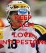 KEEP CALM AND LOVE INTI PESTONI - Personalised Poster A4 size