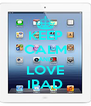 KEEP CALM AND LOVE IPAD - Personalised Poster A4 size