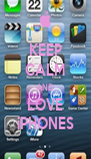 KEEP CALM AND LOVE iPHONES - Personalised Poster A4 size