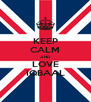 KEEP CALM AND LOVE IQBAAL - Personalised Poster A4 size