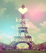 keep  calm and  love isambau  - Personalised Poster A4 size